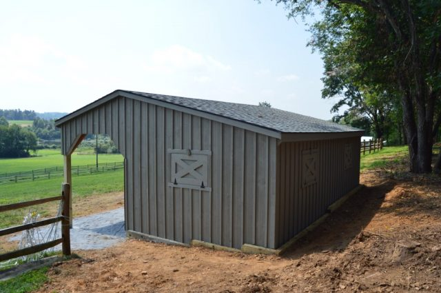 Run-in Shed with Lean-to Coatesville, PA