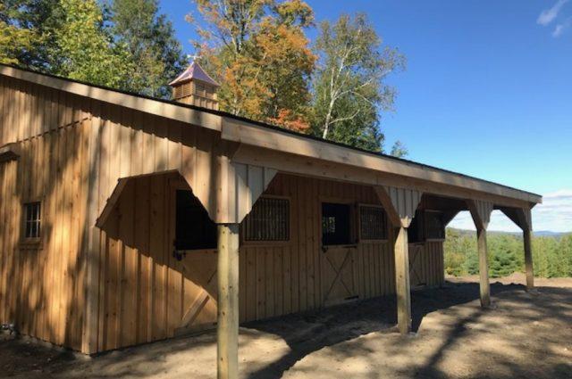 Stowe, Vermont modular barn double sliding doors