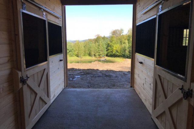 Stowe, Vermont modular horse barns