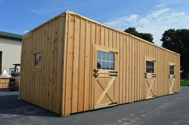 wooden modular horse barn in Stowe, Vermont