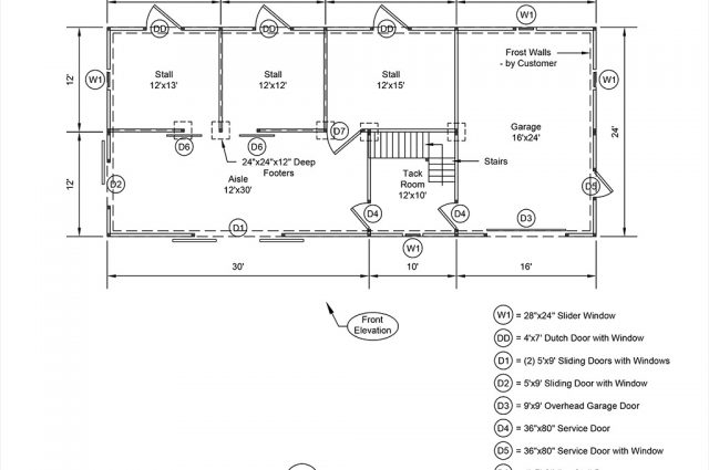 24x56x10-Barn--Floor-Plan