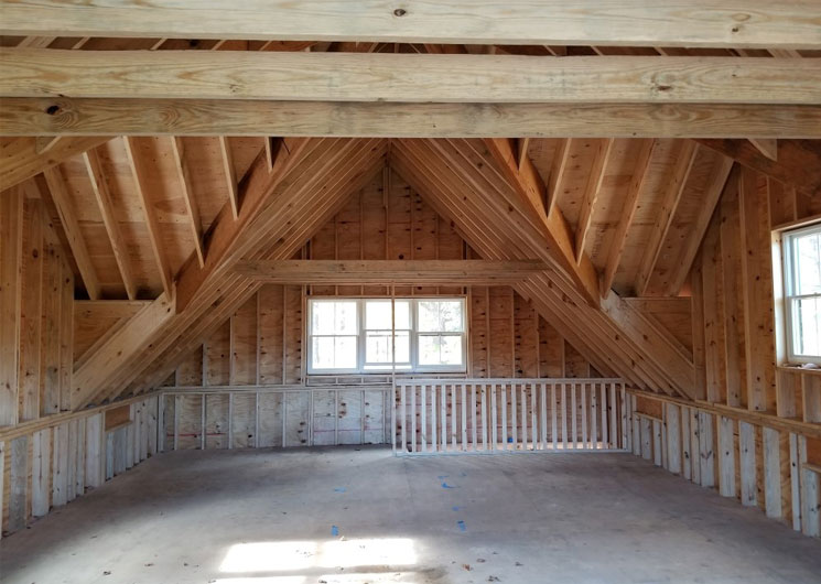 Large office space in loft of horse barn