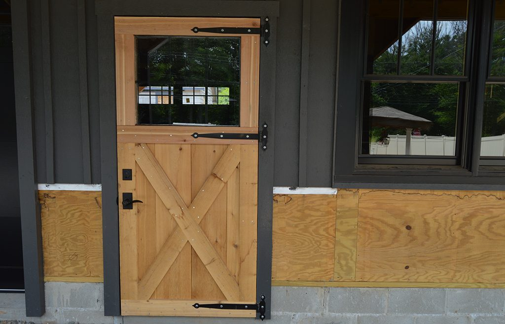 Wooden Horse Barn Door