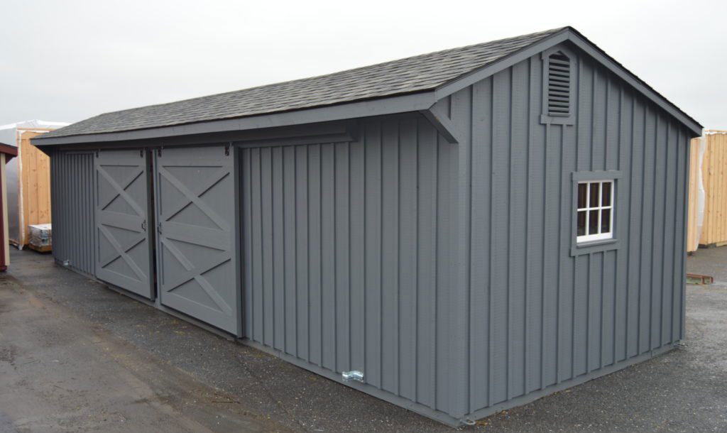 Modern barn style for horses