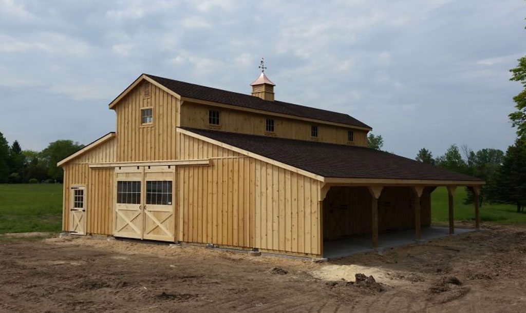 Big barn designed for horses