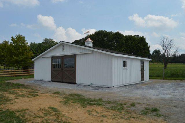 36'x24' modular horse barn in Cochranville PA