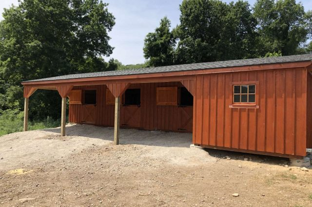 Shed Row Barn with 10′ Lean-To – Quaker Hill, Connecticut