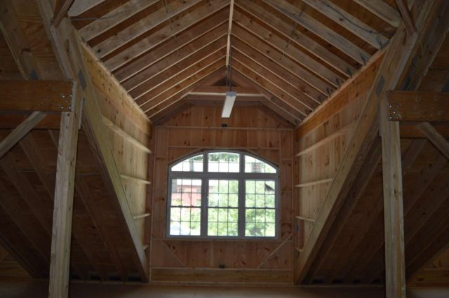custom garage with window dormers in Woodbury, CT