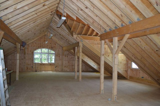 garage with loft and three window dormers in Woodbury, CT