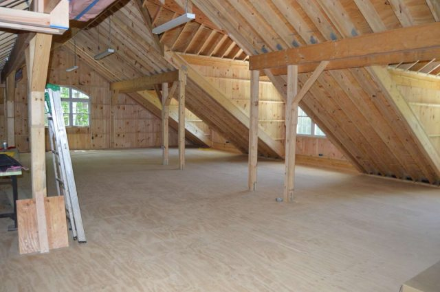 garage with storage loft and three window dormers in Woodbury, CT