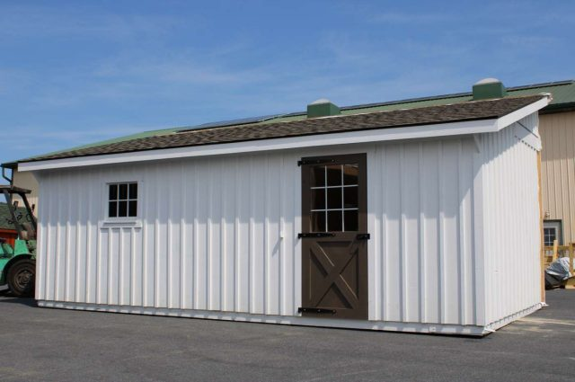white board and batten siding horse barn in Cochranville pa