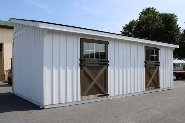 white pine board and batten siding horse barn in Cochranville pa
