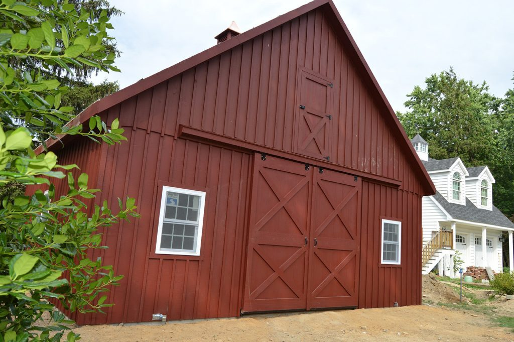 Tall red barn custom built