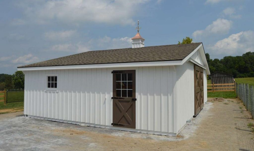 White horse barn design