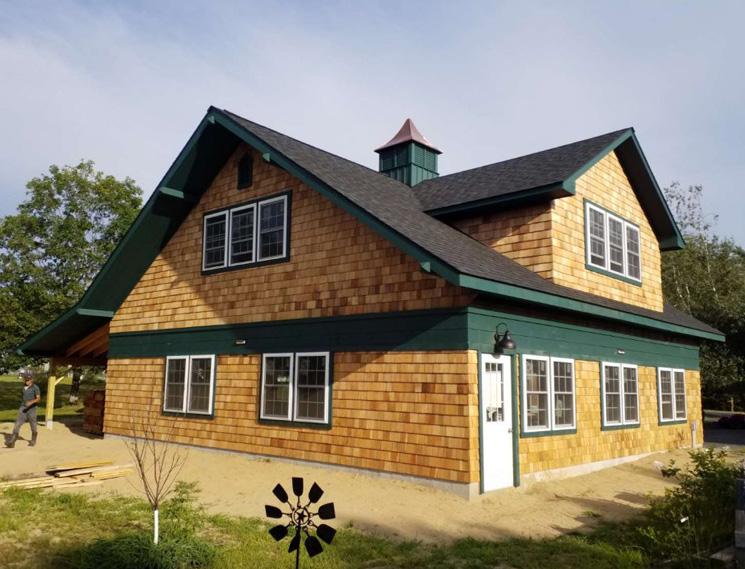 Cedar shake custom garage