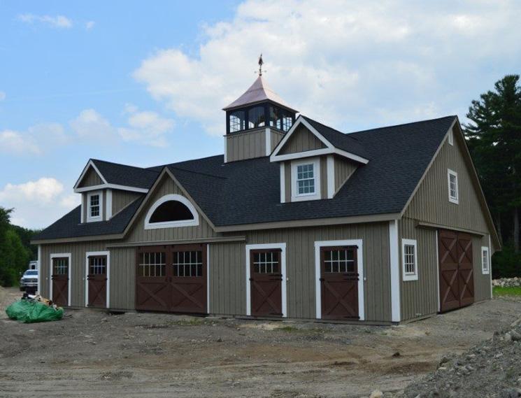 Modern custom horse barn garage