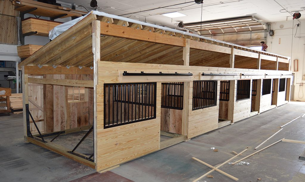 Custom large horse barn for several horses