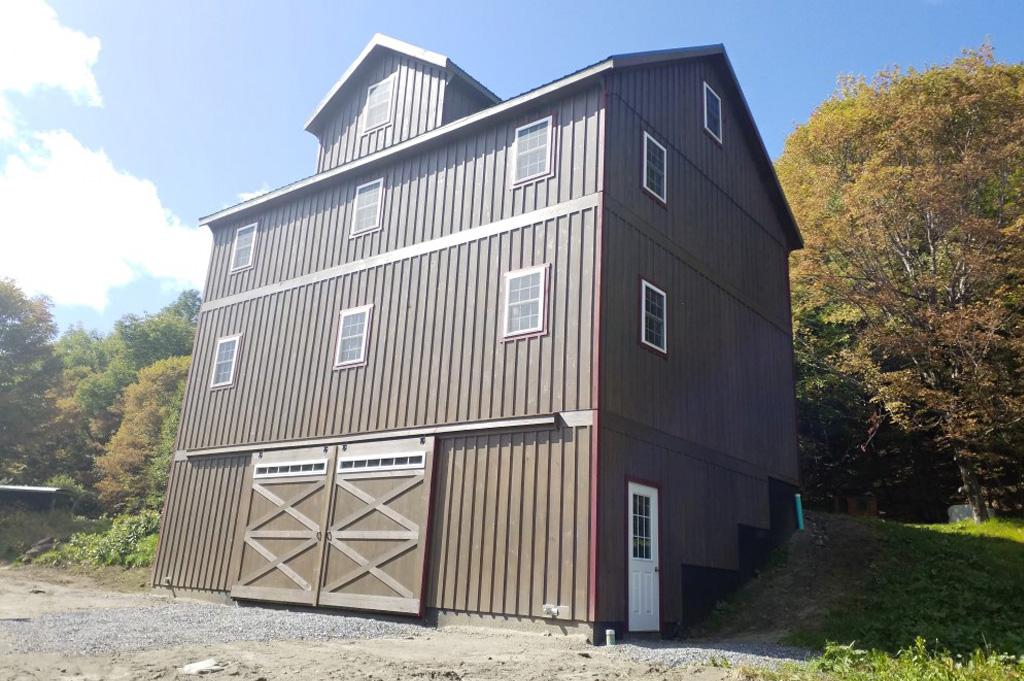 3-story custom garage style