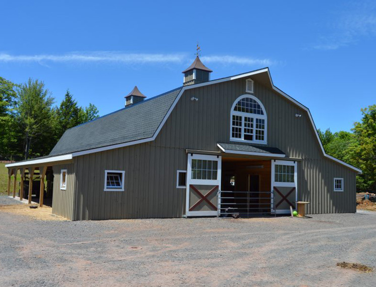 Custom barn with loft to live in
