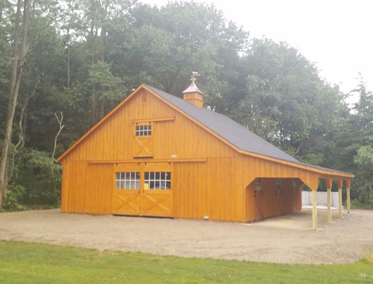 natural wood high country barn