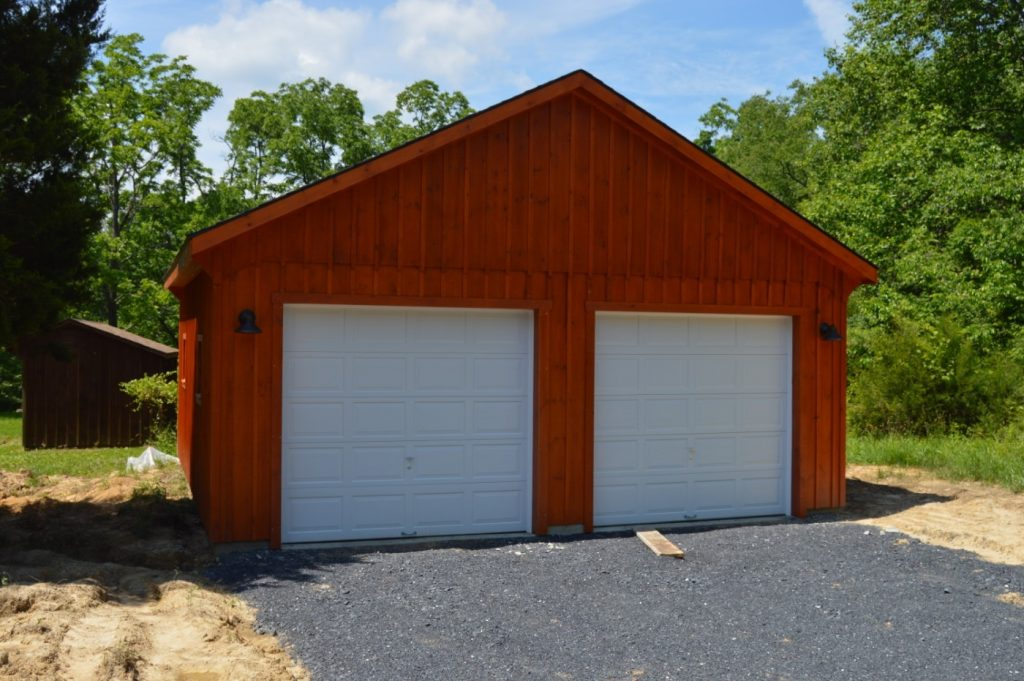 2-car garage built by J&N structures