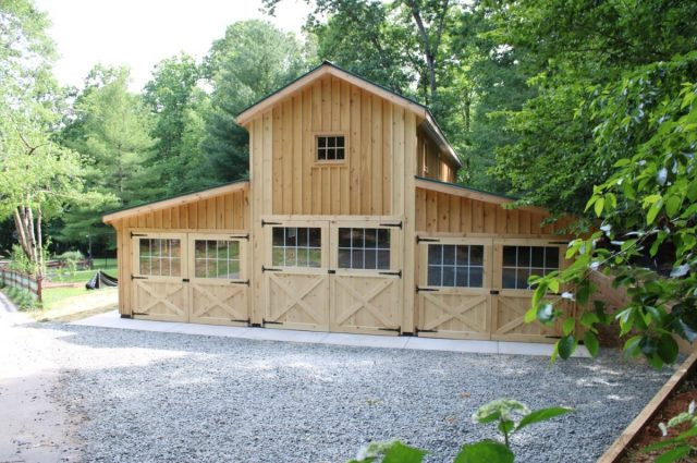 Barn built by the best garage builders