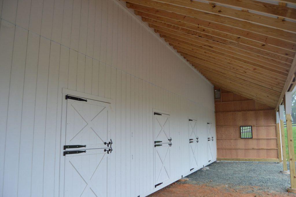 Horse barn interior design