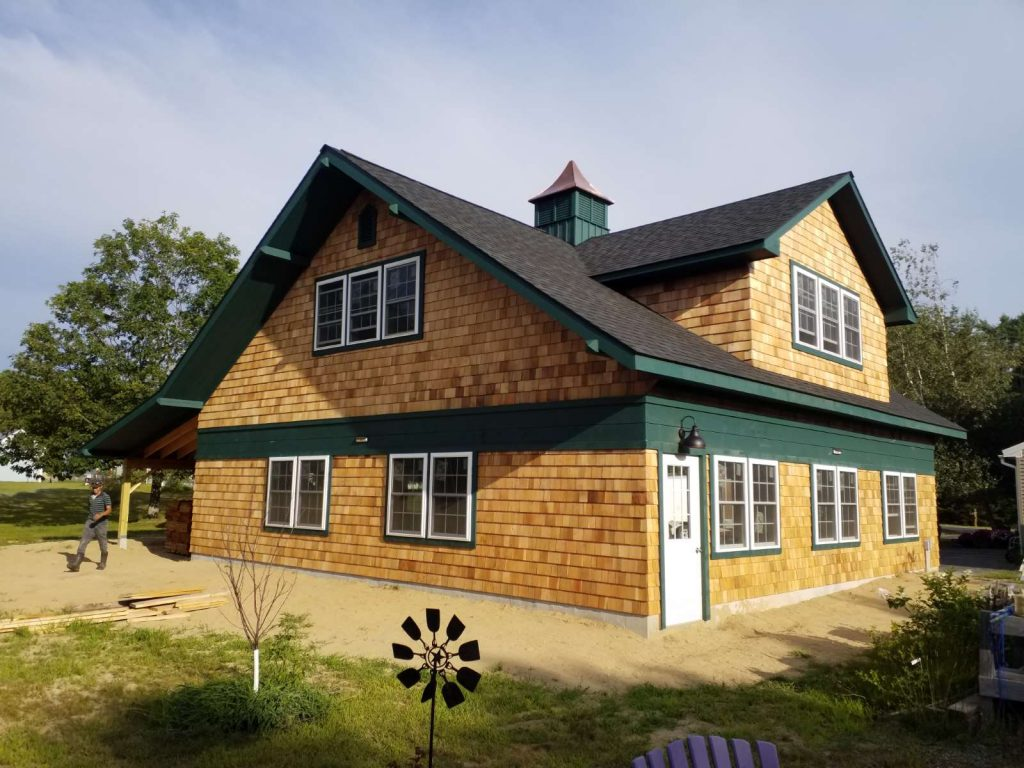 Garage barn with custom features
