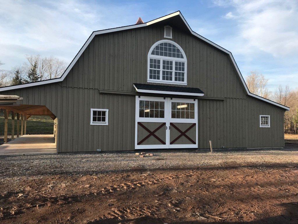 Rustic barn design with cupola
