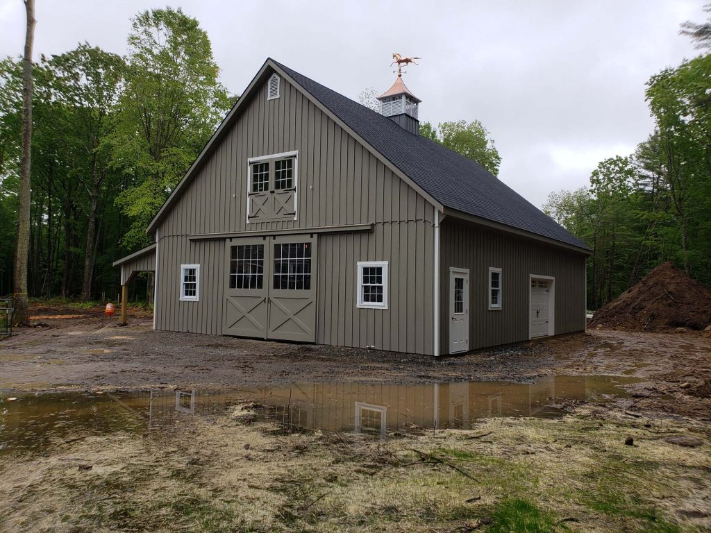 New England style barn built in NH
