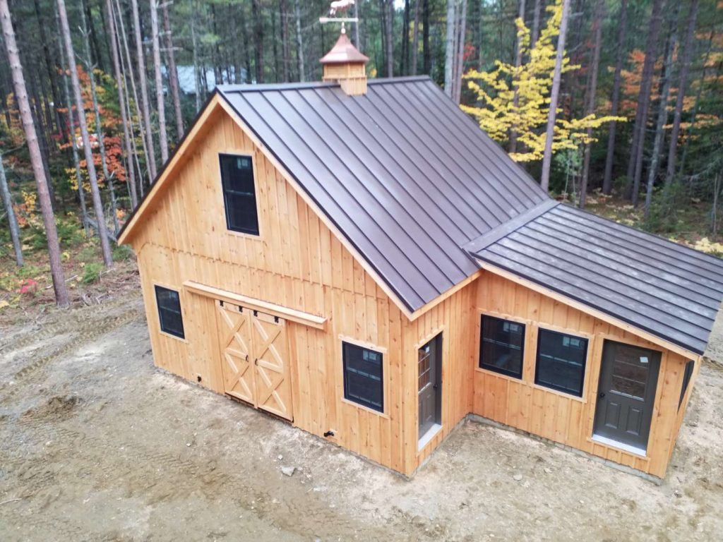 New England style barn for horses
