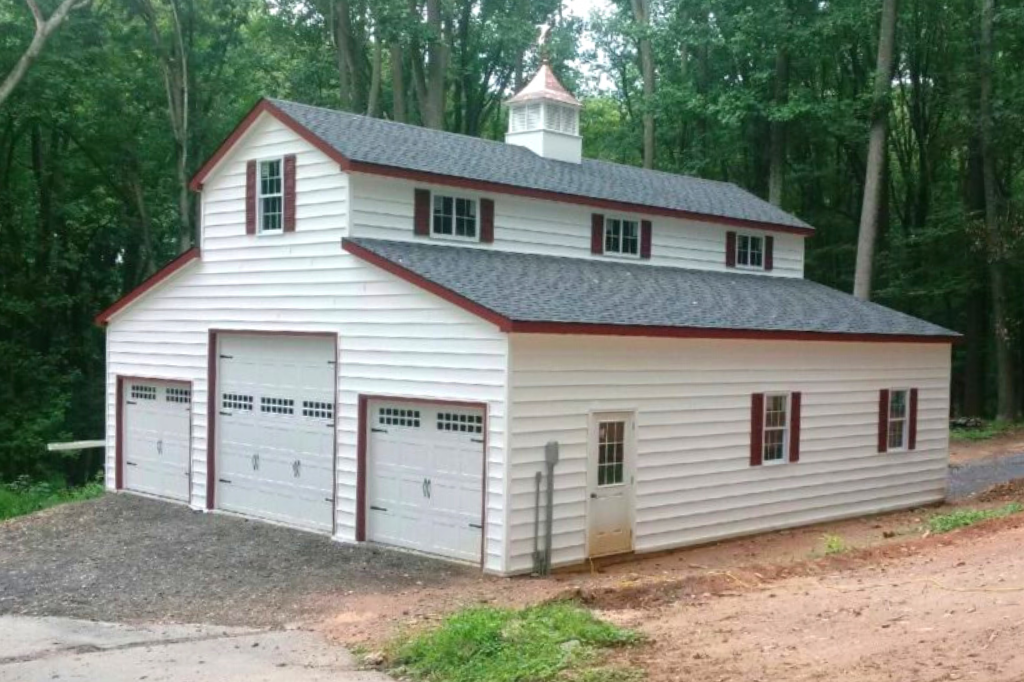 garage with second floor in Maryland