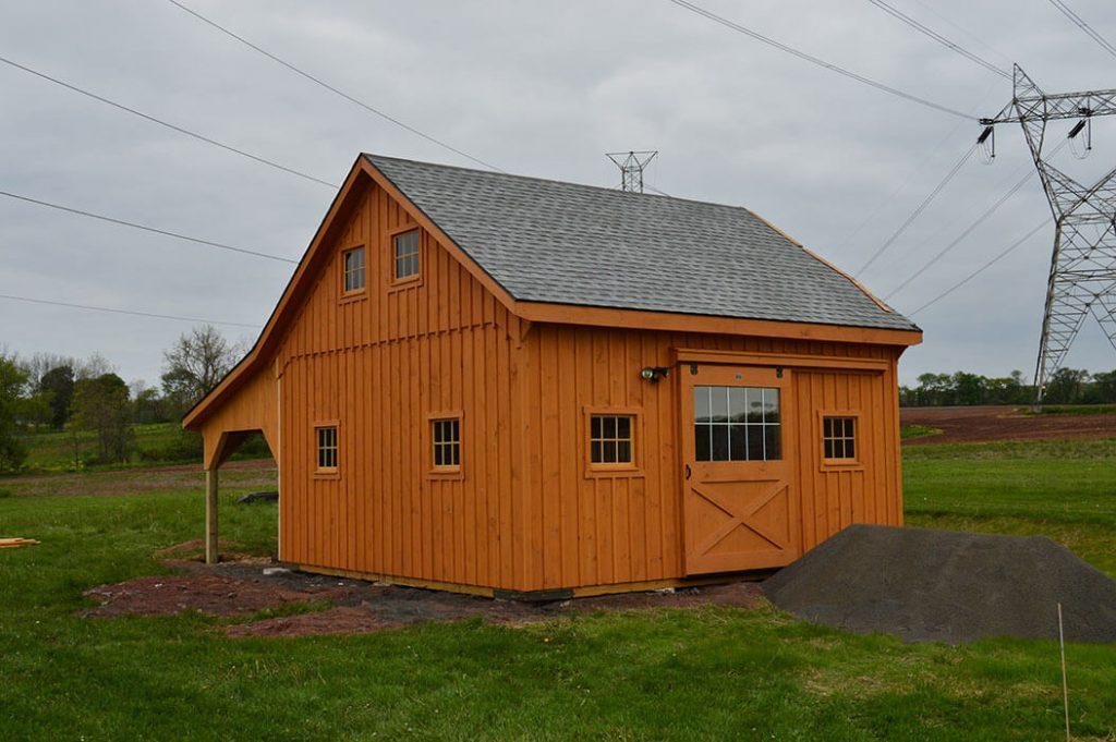 Custom barn built in Pennsylvania