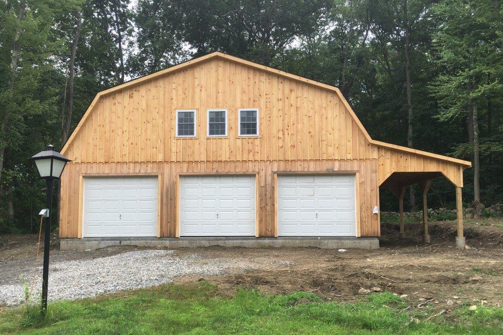 Barn style garage for storage