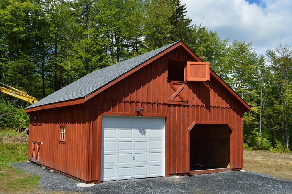 Garage styled barn with 2 doors