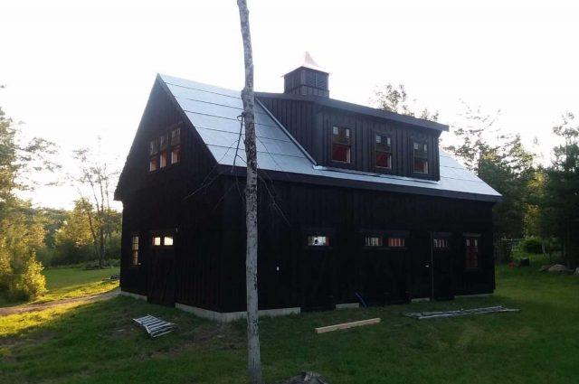 black double wide garage