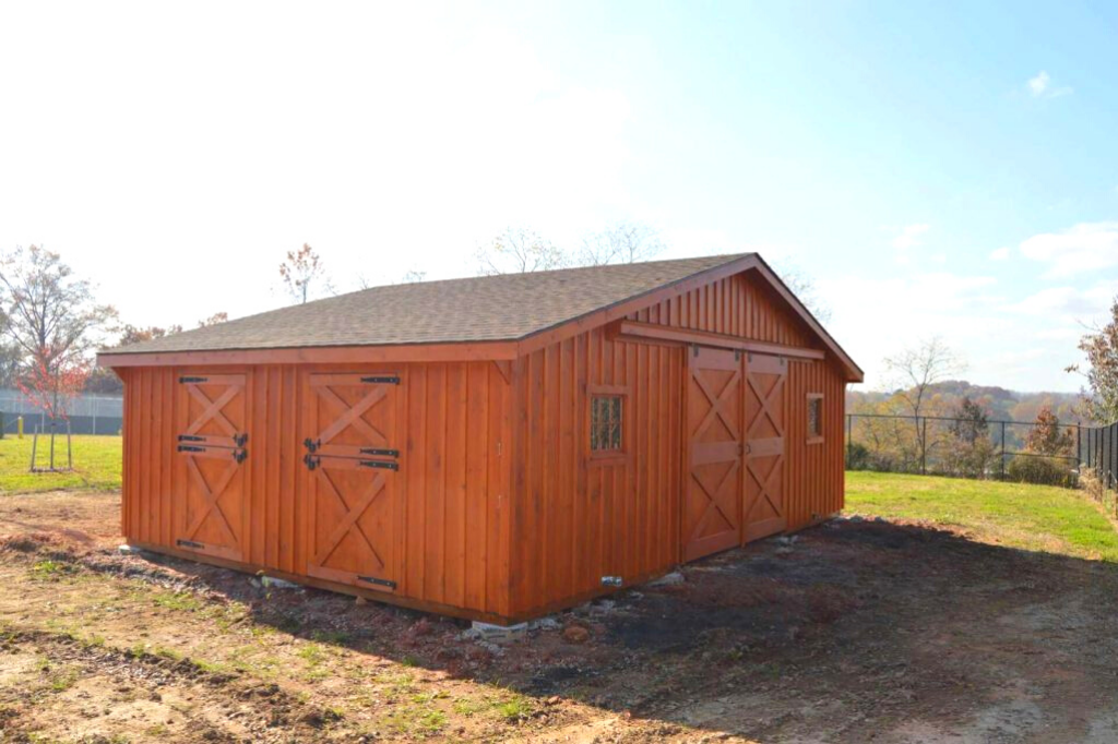 Bronze barn stain color