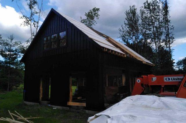 garage with dutch doors