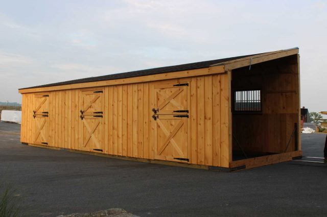 l shaped lean to barn