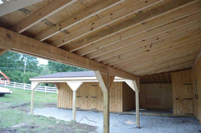 10 foot barn overhang