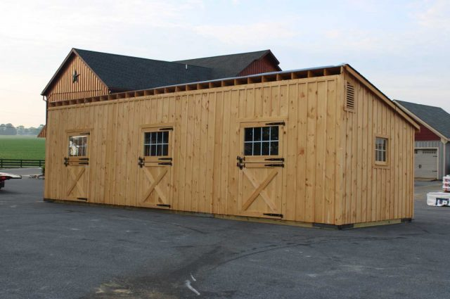 barn with 3 pitch rafters