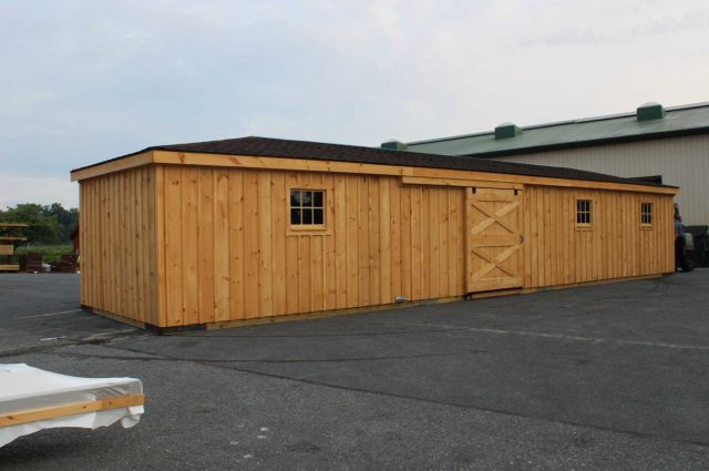 lean to barn with dutch doors