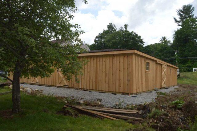 barn with hay storage