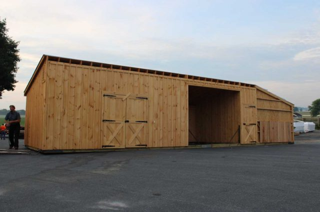 barn with sliding windows