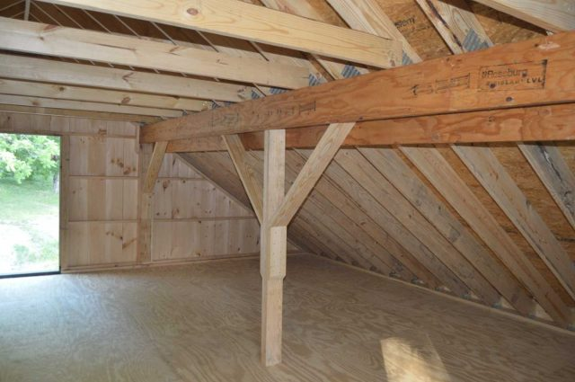 barn with storage loft