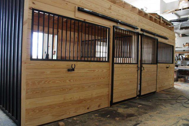 interior horse barn stalls