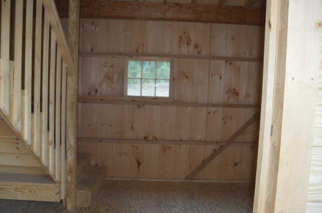 wooden barn walls