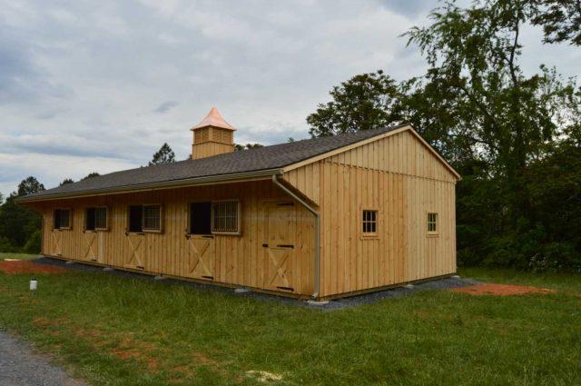 custom barn overhang