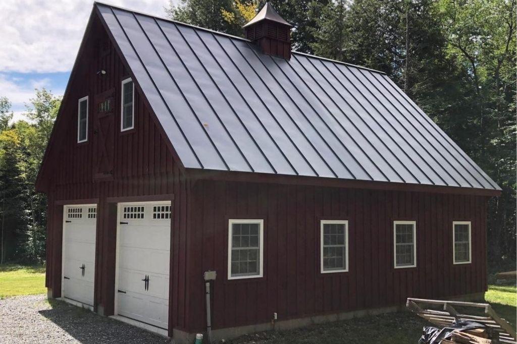 standalone garage with 2 bays